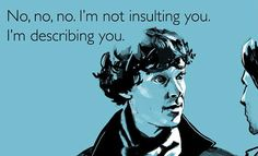 SHERLOCK Funny Post Card