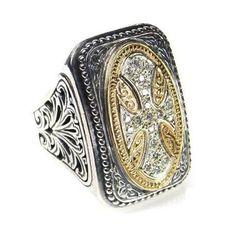 Diamond Maltese Cross Ring