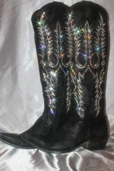 Yes, if you look closely, these have my signature flare....BLING................. COWBOY BOOTS