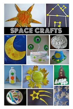 Space Themed Crafts & Books For Kids