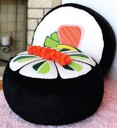 Sushi Ottoman Please 'like', 'repin' and share! Thanks :)