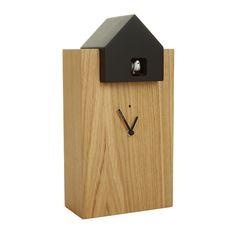 Ettore Clock - Tall - Black/Oak from Diamantini & Domeniconi