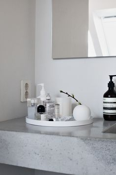 Redecorating Your Bathroom and Redoing Your Bathroom Cabinets Bathroom Counter Decor, Bathroom Styling, Bathroom Ideas, Bad Inspiration, Bathroom Inspiration, Living Tv, Classical Elements, Room Planning, Interior Design Companies