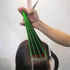Hair Stylist Education & Tutorials: Cutting Asymmetric Layers , Behind The Chair Cut Own Hair, How To Cut Your Own Hair, Hair Cuts, Modern Bob Haircut, Line Bob Haircut, Trending Hairstyles, Hairstyles Haircuts, Stacked Haircuts, Hair Cutting Techniques