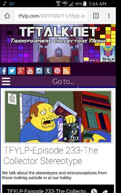 #TFYLP #Transformers #podcast Check out Episode 233 of the podcast if you've ever felt stereotyped as a collector!