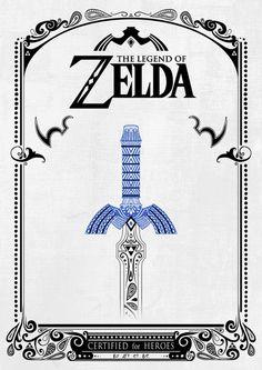 Zelda legend - Sword Art Print