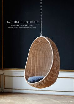 Sika Design Hanging Egg Chair by Nanna Ditzel. Avaiable in Interior and Exterior models.  #sikadesign #nannaditzel #eggchair #ICONS