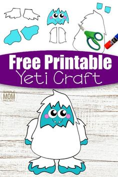 Here's a super fun cut and paste craft which is ideal for practising those scissor skills! Our free printable cut and paste Yeti craft is an ideal craft activity for the cold winter days. Whether it's for your toddlers, preschoolers, kindergartners or big kids, this simple cut and paste Yeti craft has always been a super popular paper craft in our home. So get ready for the cool months ahead with this free printable cut and paste Yeti craft template today! #cutandpastecrafts #Yeticrafts Winter Crafts For Kids, Winter Kids, Cute Snowman, Snowman Crafts, Printable Crafts, Free Printables, Puffy Paint Crafts, Paper Plate Art, Snowman Coloring Pages