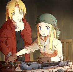 Edward and Winry by Aly434.deviantart.com on @deviantART