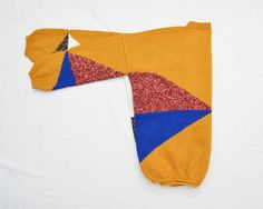 Vintage Handmade Sweater // Colorblock Knitted Pullover by DejaYu