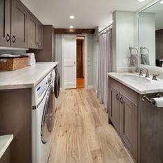 dark gray bathroom laundry room combo design ideas