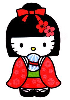 Hello Kitty dress up - Geisha costume Sanrio Hello Kitty, Hello Kitty Art, Hello Kitty My Melody, Hello Kitty Tattoos, Hello Kitty Pictures, Hello Kitty Items, Hello Kitty Birthday, Hello Hello, Kawaii