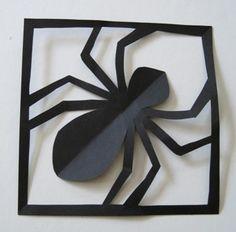 Araignée en papier , Déco Halloween à fabriquer