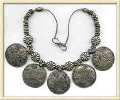 Old silver necklace, India