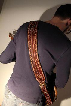 Chancey77 Custom Leather_ Back of custom guitar strap