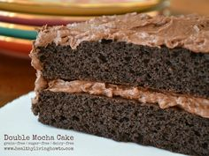 Low Carb Double Mocha Double Layer Cake - Gluten-free, dairy-free - Coconut flour cake -  net carbs per slice