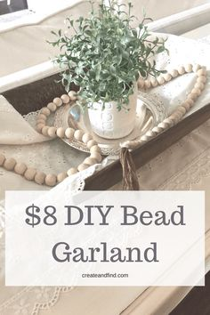diy wooden bead garland / farmhouse decor / decor crafts – Do It Yourself Decor Crafts, Home Crafts, Diy Home Decor, Wood Bead Garland, Beaded Garland, Garlands, Diy Girlande, Do It Yourself Home, Wooden Diy