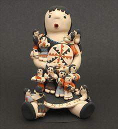 Pottery Storyteller by Carol Suina (Cochiti)