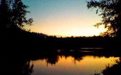 Boa noite :D O pôr do Sol no rio Lima em S. Jorge Arcos de na tarde da passada sexta-feira