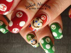Mario And Luigis Nails
