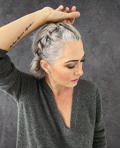 Grey Hair Dye, Short Grey Hair, Dyed Hair, Lilac Hair, Pastel Hair, Green Hair, Blue Hair, Pastel Pink, Grey Hair And Glasses