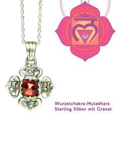 Muladhara Chakra Schmuck mit Granat  Kettenanhänger sehr edel #chakra