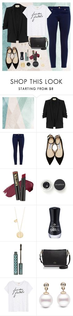 """""""Friday's"""" by rebeld-31 ❤ liked on Polyvore featuring Sandberg Furniture, River Island, Ted Baker, Jimmy Choo, L.A. Girl, Smashbox, Elizabeth and James, Kate Spade and Sundry"""