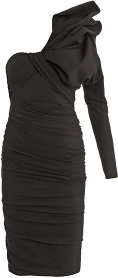 LANVIN Bow-Detail Ruched Jersey Dress - Lyst
