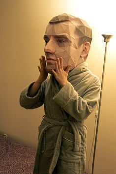 Guy made a 3D paper model of his own head. How cool is that?