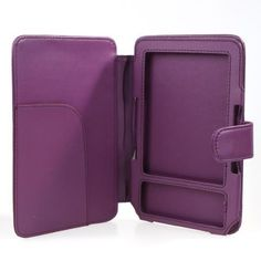 Purple Synthetic Leather Case for  Kindle 3