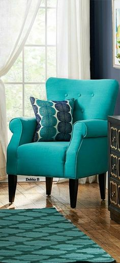 Welcome To My Page, Blue Home Decor, Love Your Home, Wingback Chair, Love Seat, Accent Chairs, Couch, Furniture, Upholstered Chairs
