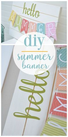 DIY Summer Banner Tutorial Source by dekorationtipps Diy Craft Projects, Woodworking Projects Diy, Craft Tutorials, Craft Ideas, Wood Projects, Project Ideas, Diy Décoration, Easy Diy Crafts, Fun Crafts