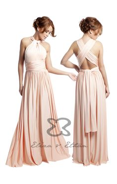 The Multi way bridesmaids dress by Eliza and Ethan. A stunning bridesmaids dress that your bridesmaids will love, whatever their shape or size.