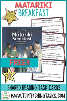 The celebration of Matariki, the Māori New Year, has grown in popularity in recent years. Read on to learn 5 ways to introduce Matariki in your classroom. Free Teaching Resources, Writing Resources, Writing Prompts, Teaching Ideas, Higher Order Thinking, Primary Classroom, Thinking Skills, Teaching Materials, Literacy Centers