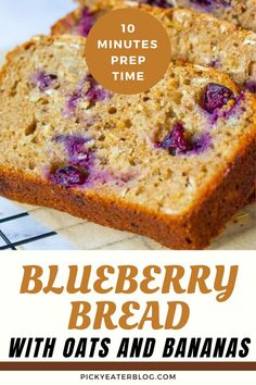 Welcome another savory bread with a twist! This healthy blueberry bread with oats and bananas is a great breakfast idea. This is moist, tender, naturally sweet, healthy, and very easy to make! Follow this simple step-by-step recipe of this blueberry bread. This naturally-sweet recipe will be a hit with your kids for those busy mornings. Enjoy this healthy high-protein, loaded with nutrients, and low-calorie breakfast on the go. #healthybreakfastidea #blueberrybreadbanana #easybreakfastrecipe Healthy Blueberry Bread, Banana Oat Bread, Banana Oats, Great Breakfast Ideas, Breakfast On The Go, Sweet Desserts, Sweet Recipes, Low Calorie Breakfast, Eating Bananas