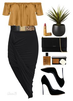 """""""Untitled #183"""" by annbstyle ❤ liked on Polyvore featuring moda, Topshop, Tejido, Casadei, Lanvin, NARS Cosmetics, Bobbi Brown Cosmetics, Lipstick Queen y CB2"""