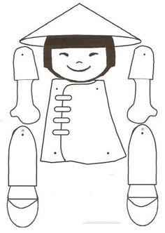 petits chinois articulés MS-GS - La classe de Teet et Marlou Chinese New Year Crafts For Kids, Chinese New Year Activities, Chinese Crafts, New Years Activities, Chinese Art, Art For Kids, New Year Art, Chinese Dolls, New Year's Crafts