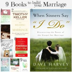 One of the BEST things I've ever done for my marriage is to read excellent books on the topic. Here are 9 books to build your marriage!