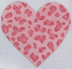 Cheetah Spots Mini Heart