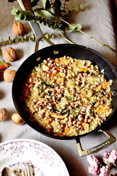 quinoa salteada con calabaza y champiñones. Vegan Vegetarian, Vegetarian Recipes, Healthy Recipes, Quinoa, Gourmet Desserts, French Pastries, Chef Recipes, Sashimi, Culinary Arts