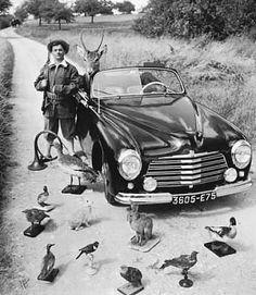 Robert Doisneau // Maurice Baquet avec trophées de chasse, ca. 1965.