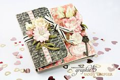 Love Notes Pocket Album Featuring Mon Amour by Sandy Trefger featuring product by Graphic 45!