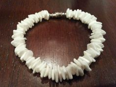 Vintage bracelet white faux shell in Jewelry & Watches | eBay