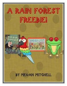 Enjoy a few free activities for the stories, Nature's Green Umbrella by Gibbons and  Rain, Rain, Rain Forest by Guiberson....