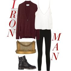 Iron Man by el0723 on Polyvore featuring polyvore, fashion, style, 3.1 Phillip Lim, Amen., Topshop Unique, Christian Louboutin and Chanel