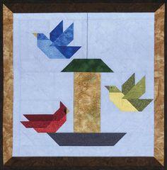 Bird Houses Patterns Quilt Blocks 48 New Ideas Mini Quilt Patterns, Paper Piecing Patterns, Bird Patterns, Barn Quilt Designs, Quilting Designs, Small Quilts, Mini Quilts, Vogel Quilt, Bird Quilt Blocks