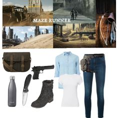 Fashmates is the shoppable fashion social network. Create and share your shoppable looks. Zombie Apocalypse Outfit, Apocalypse Survival, Other Outfits, Cool Outfits, Runners Outfit, Maze Runner Trilogy, Badass Outfit, Fandom Outfits, Lost Girl