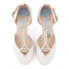 Charlotte Mills Anastasia Ivory Designer Wedding Shoes