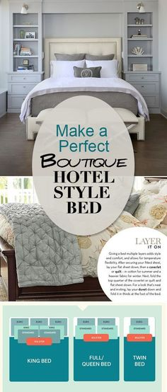 Make a Perfect Boutique Hotel Style Bed • Learn all the tricks to making the perfect bed that looks just like those luxury beds at the fanciest ( and comfiest!) hotels! #luxuryhouses