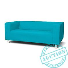 Turquoise-New-Custom-Cover-Slipcover-to-fit-IKEA-KLIPPAN-2-Seater-Sofa Width: 180 cm Depth: 88 cm Height: 66 cm Seat depth: 54 cm Seat height: 43 cm Number of seats: 2 pack